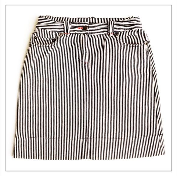 195c22f5d9 Boden Dresses & Skirts - Boden Pinstripe Denim Skirt
